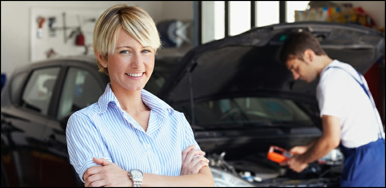 Smiling Precise Auto Service Customer