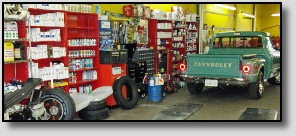 Truck in Service Bay of Precise Auto Service